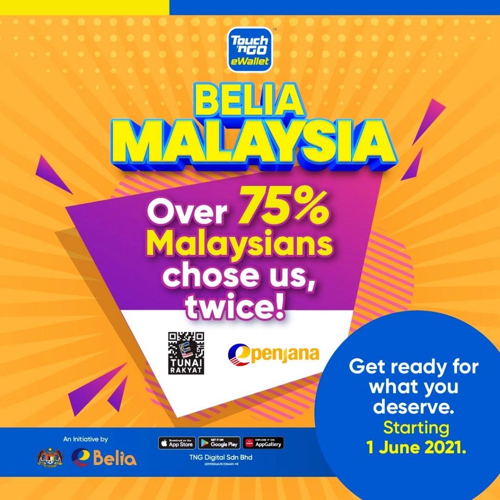 Cara Daftar dan Tebus Kredit eBelia RM150 di Touch N Go eWallet