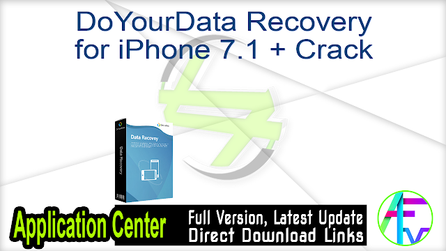DoYourData Recovery for iPhone 7.1 + Crack