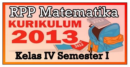 RPP Matematika K13 Kelas 4 Revisi Semester 1