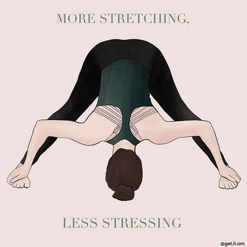 27 Truly Inspiring Yoga Quotes for Your Daily Practice. 27 Inspiring Images to do yoga. Inspirational & Motivational Quotes via thenaturalside.com | more stretching less stressing | #quotes #yoga #sayings #stressrelief