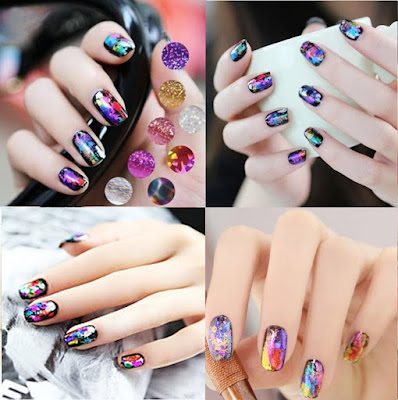 Nail art of the foil