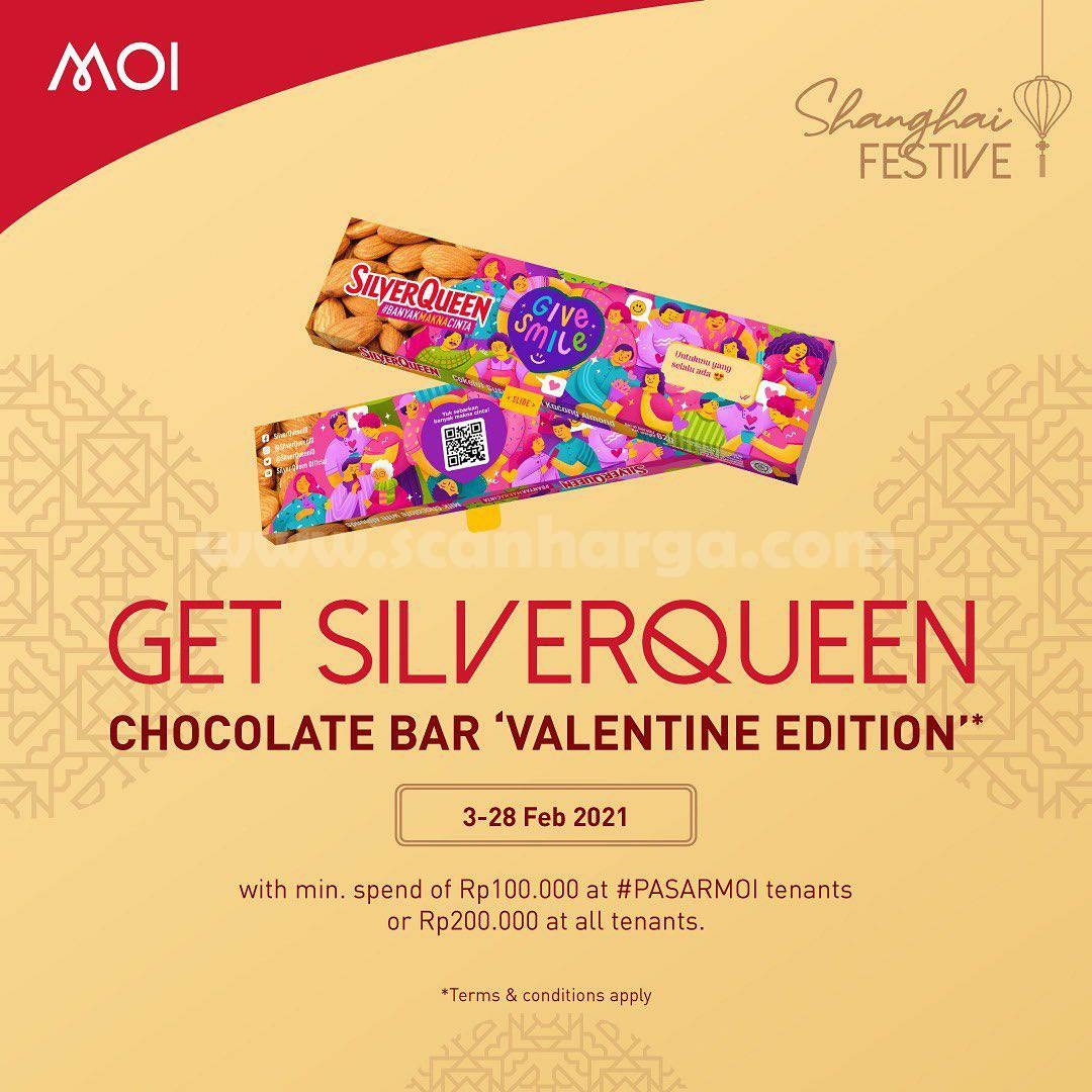MALL OF INDONESIA Proudly Present SHANGHAI FESTIVE – Get SilverQueen Chocolate Bar Valentine Edition