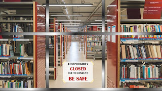A Library on lockdown due to COVID 19