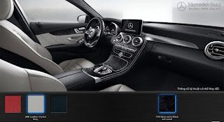 Nội thất Mercedes C300 AMG 2016 màu Xám Crystal 268