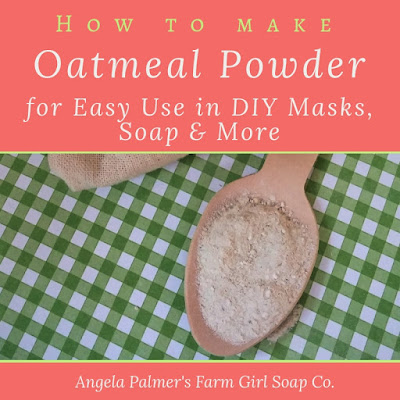 Learn how to make the best DIY oatmeal face mask recipes and handmade oatmeal soap with this ONE easy tip.