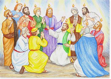 Pentakosta, turunnya Roh Kudus atas para Rasul