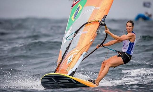 Patrícia Freitas em regata representando o Brasil