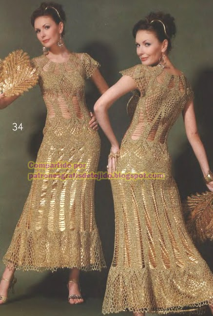 Vestidos elegantes tejidos a crochet