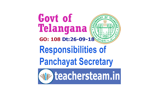 Responsibilities of Panchayat Secretary