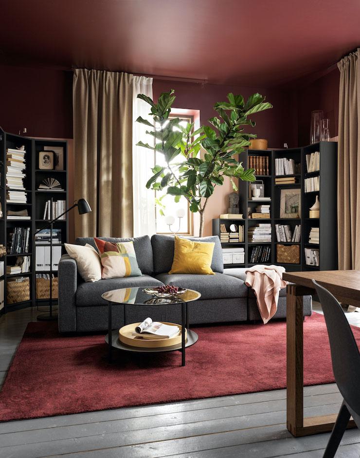 Salones nuevo catálogo IKEA 2021: salón de estilo clásico.