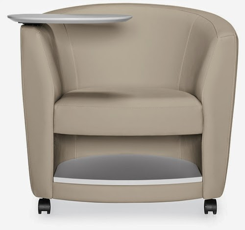 Global Sirena Mobile Lounge Chair with Storage and Tablet