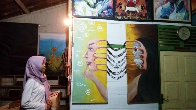 Mampir di BJO Furface, Galeri Lukisan dan Kerajinan di Tengah Alas Roban
