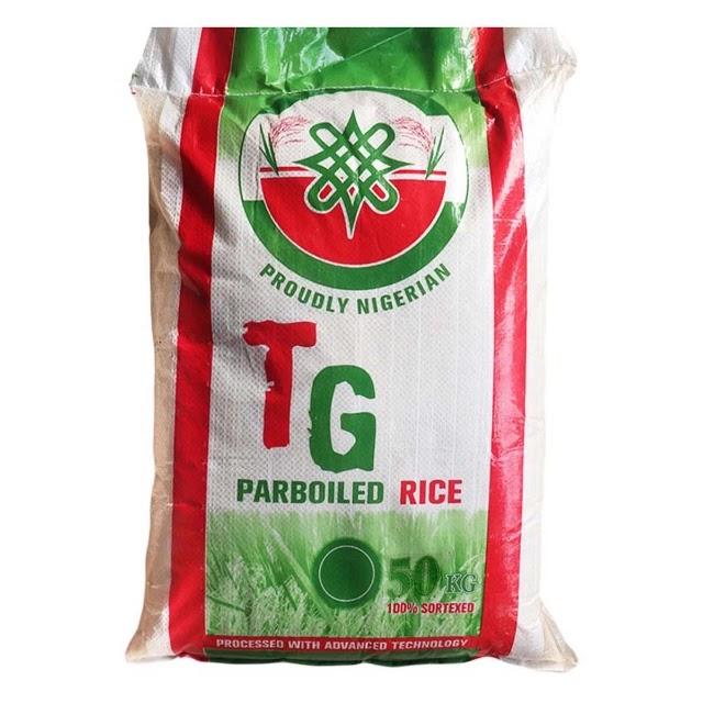 TG Parboiled Rice 50kg Bag