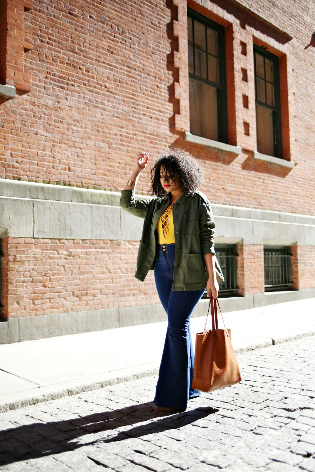 Flared Jeans Outfit for Spring