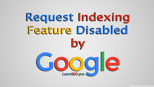 request indexing feature