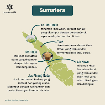 Peta Minuman Tradisional Sumatera