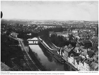 Namur 1914-1918, Blick von der Festung in Richtung Westen entlang der Sambre; Nachlass Joseph Stoll Bensheim, Stoll-Berberich 2016