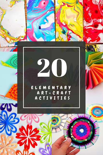 20+ Easy, unique, cheap, and low-prep Elementary Art Activities for kids to do at home or school