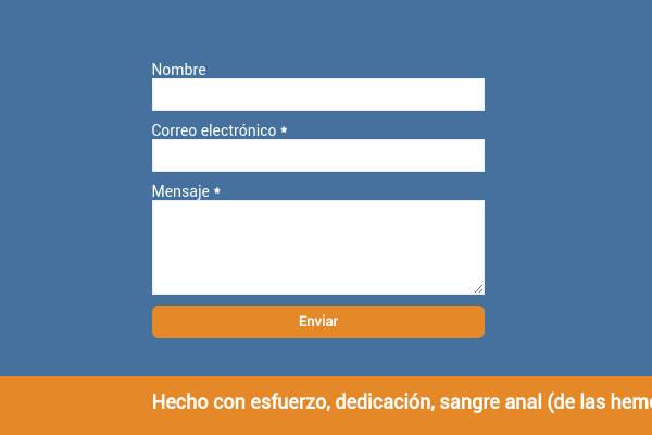 formulario de contacto en el footer de blogger