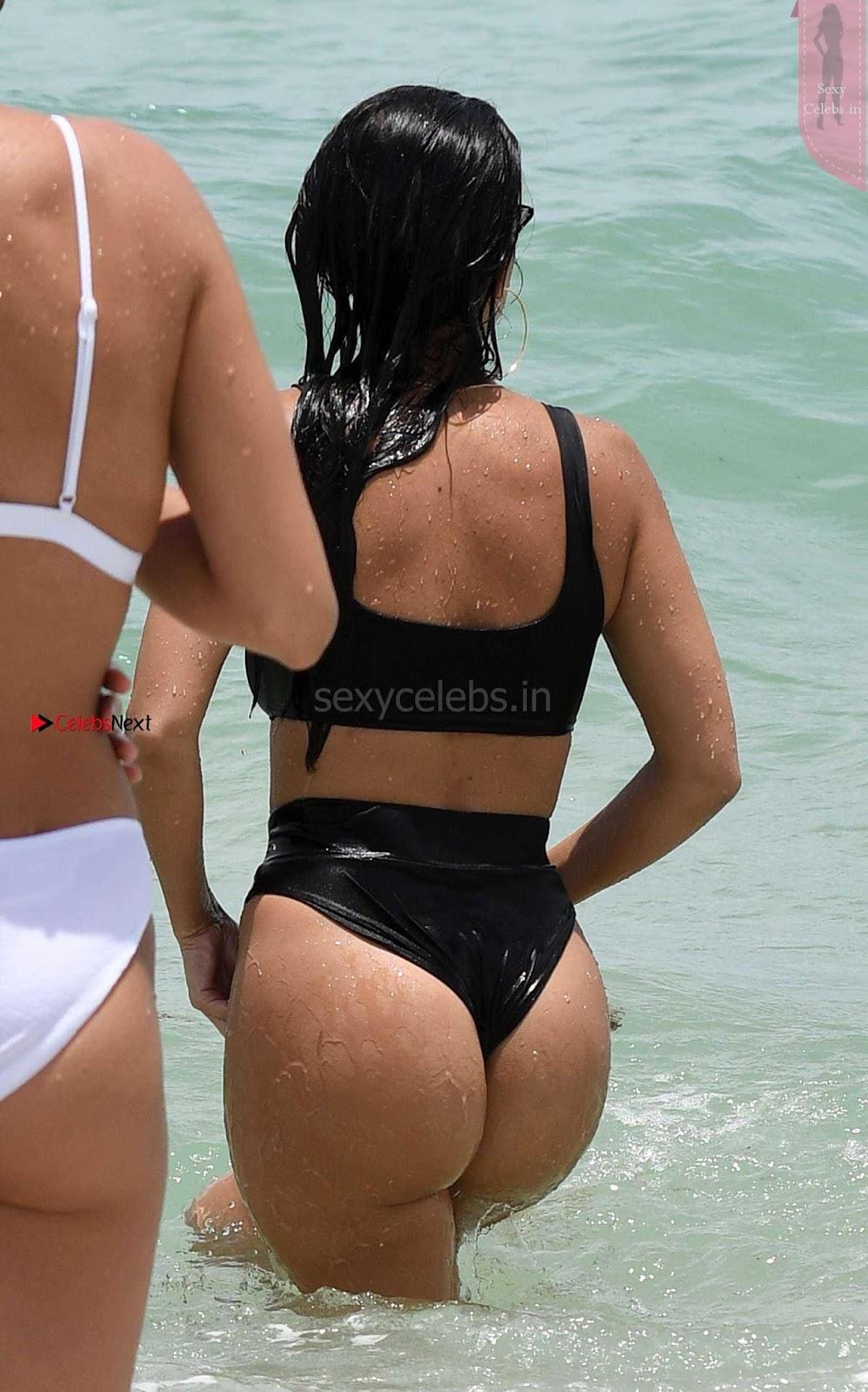 Kourtney Kardashian proud owner of Most beautiful Ass in Black Bikini and White Bikini in Miami