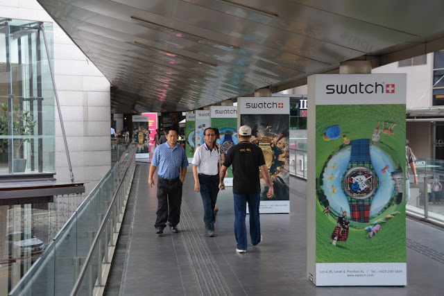 Pavillion shopping KL swatch tunnel