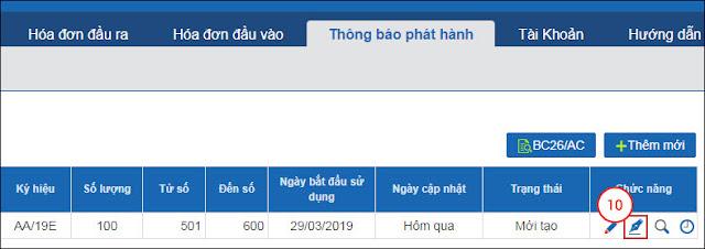Hướng dẫn thêm mới dải số hóa đơn vừa được duyệt phát hành trong eHoadon-Bkav