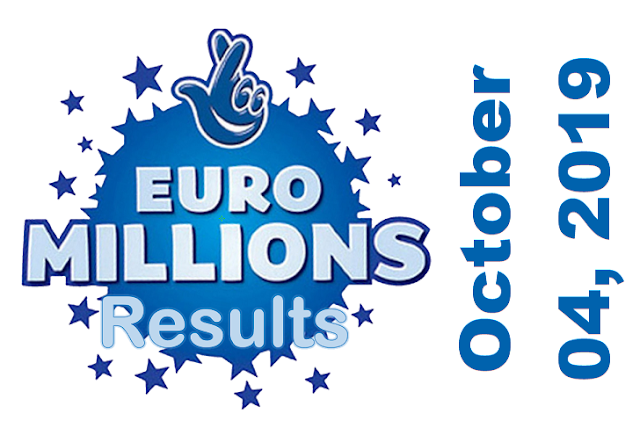 EuroMillions Results for Friday, October 04, 2019