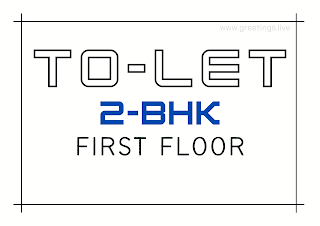 Tolet board 2bhk in first floor A4 Size images free download