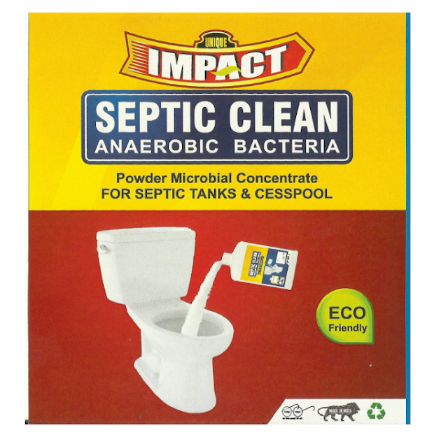Impact D'Flora Bio-Clean Natural and Effective Septic Tank Cleaner and Odour Eliminator Anaerobic Bacteria Eco-Friendly Powder