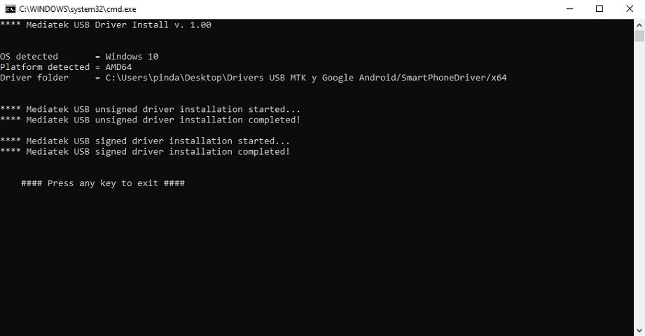 Instalación de drivers USB BLU en Windows paso a paso