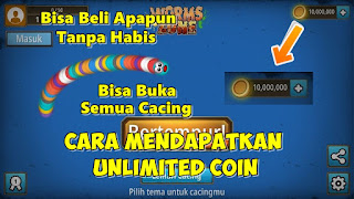 Cara Mendapatkan Unlimited Coin Di Game Worms Zone