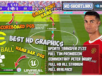 eFootball PES 22 PPSSPP Final Update Kits And Transfer 2021-2022 & Add Tattoo Best Graphics