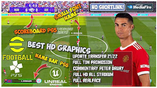 Download eFootball PES 22 PPSSPP Final Update Kits And Transfer 2021-2022 & Add Tattoo Best Graphics