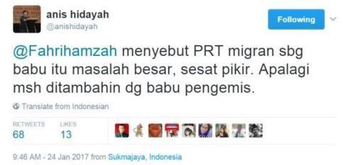 anis hidayah menyebut prt migran sbg babu itu masalah besar