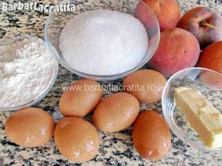 Prajitura cu piersici - ingredientele necesare prepararii retetei