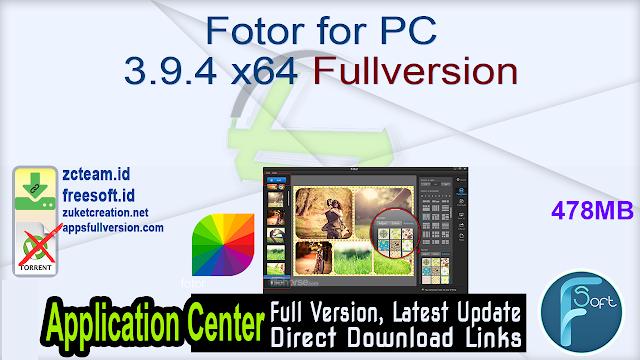 Fotor for PC 3.9.4 x64 Fullversion