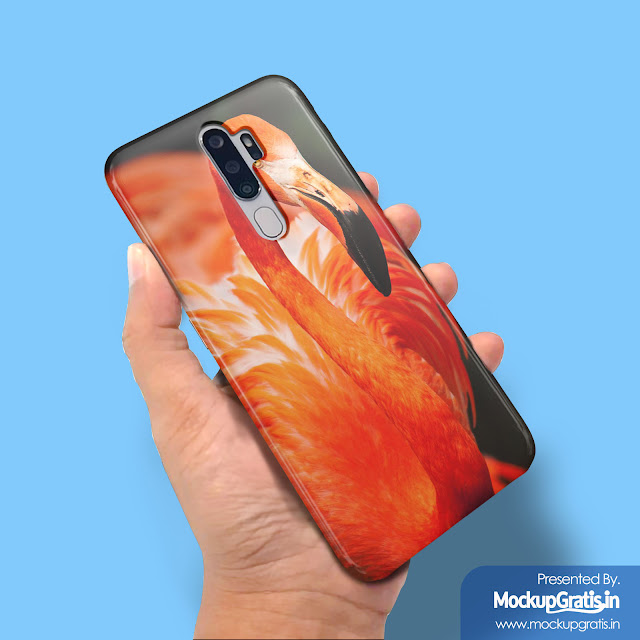 Mockup Custom Case 3D OPPO A5 (2020)