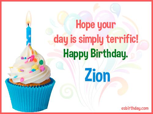 Zion Happy Birthday