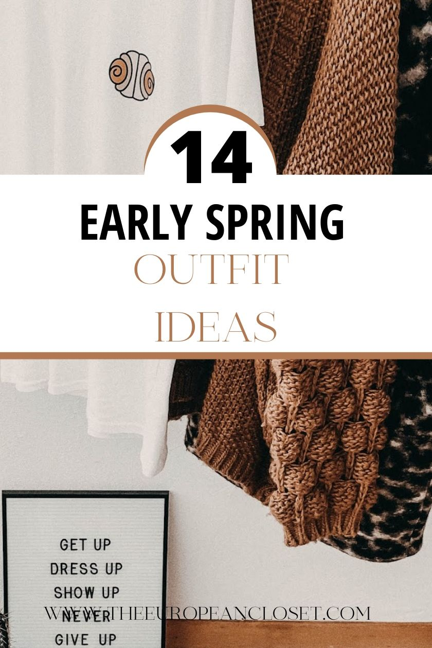 Today's post is specifically for those early spring days where it's kinda cold but kinda hot at the same time. I've put together 14 outfits perfect for you to wear during the early spring days. #fashion #transitionaloutfits