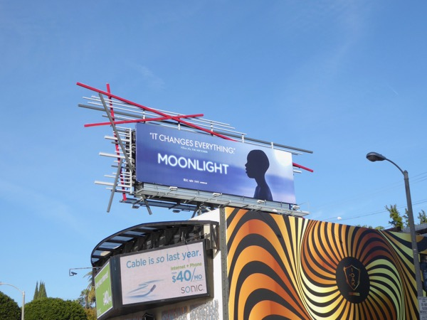 Moonlight Oscar billboard