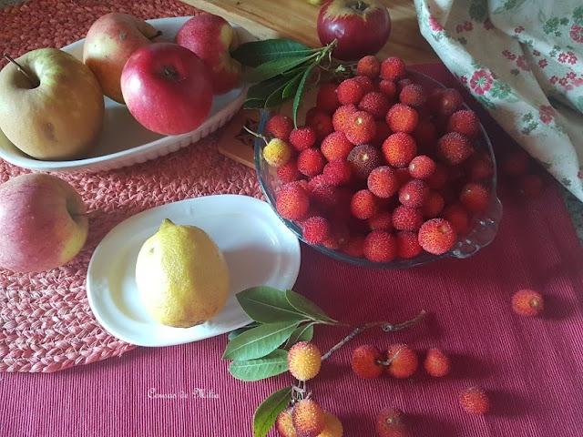 Mermelada de manzanas y madroños