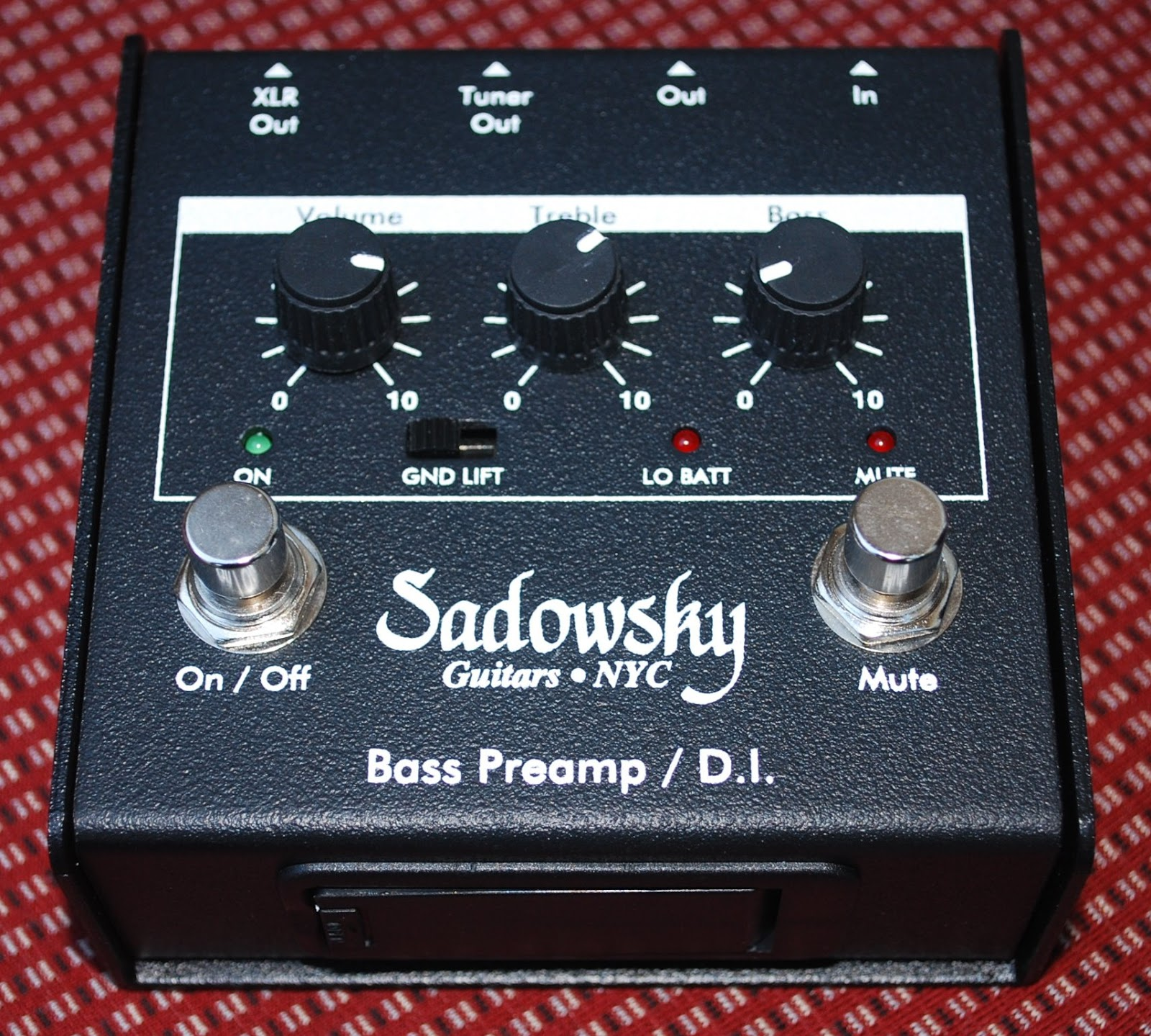 rex and the bass sadowsky preamp di box pedal review. Black Bedroom Furniture Sets. Home Design Ideas