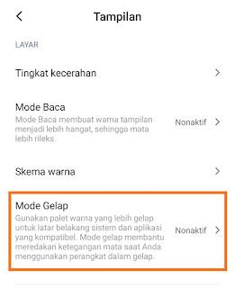 Cara Mengaktifkan Dark Mode di Xiaomi MIUI 11