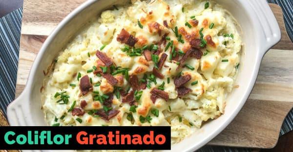 Cómo preparar coliflor gratinado – Receta Fácil