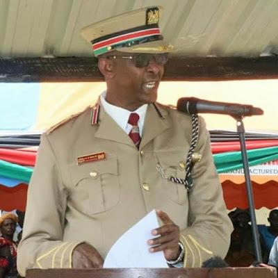 Makueni County commisoner Maalim Mohammed enforcing new coronavirus policies.
