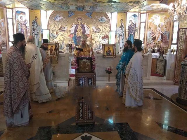 Αρχιερατική Θεία Λειτουργία στο Μητροπολιτικόν Παρεκκλήσιον της Παναγίας της Δακρυρροούσης