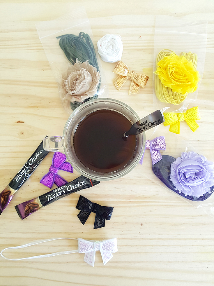 Craft headbands and drink coffee! Find out more how you can do both quickly and easily... #CraftEachDay #TastersChoiceChallenge