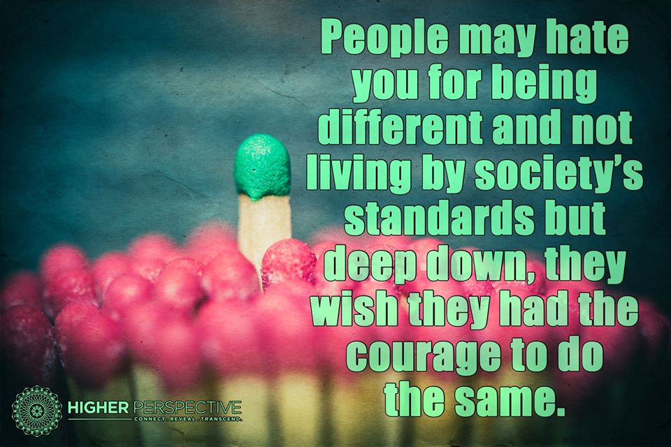People May Hate You For Being Different And Not Living By Societys
