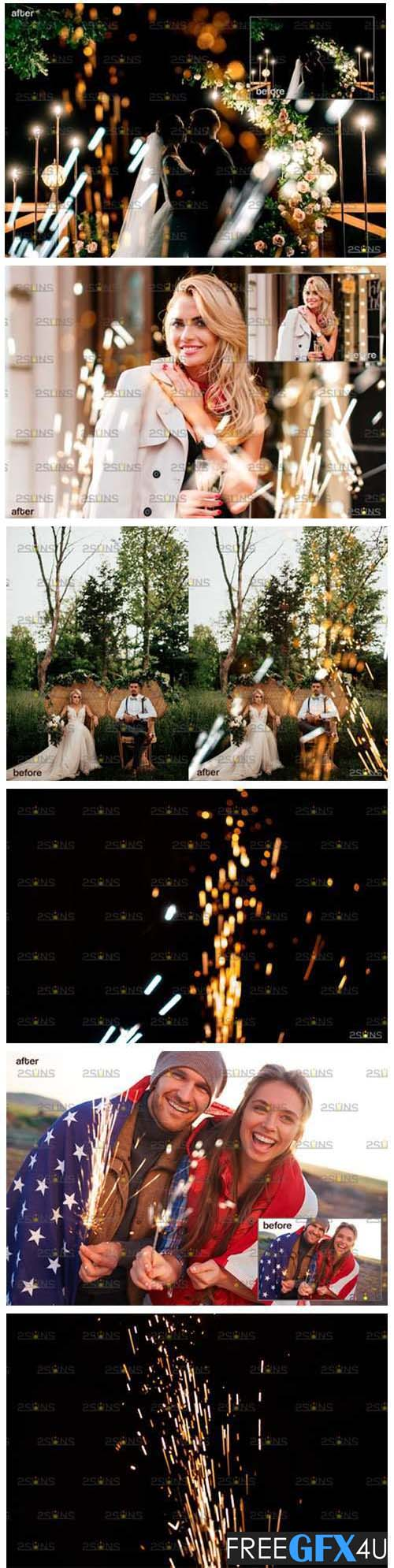 Wedding Sparkler Overlay & Photoshop