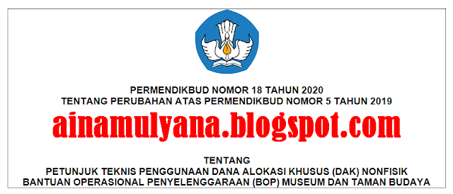 Permendikbud Nomor 18 Tahun 2020